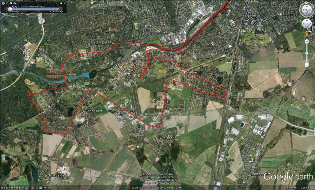 Trainingsstrecke 32 km